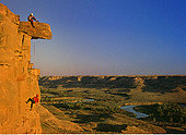 攀岩者,岩石,牛奶河,山谷,艾伯塔省,加拿大