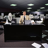 商务人士,书桌