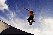 男人,滑板,跳跃,空中
