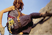 女人,攀登,岩石