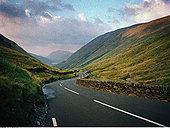 弯曲,山谷,道路,湖区,英格兰