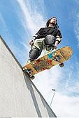 玩滑板,坡道