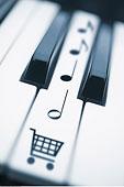 键盘,购物,象征,音符