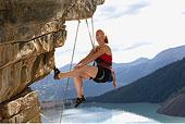 女人,攀岩,艾伯塔省