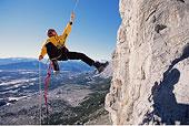 男人,攀岩,落基山脉,加拿大