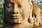 佛,头部,雕塑,吴哥窟,寺庙,柬埔寨