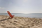 塑料制品,折叠椅,海滩,萨丁尼亚,意大利