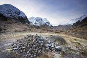 累石堆,山顶,苏格兰