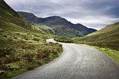 乡间小路,山峦,湖区,坎布里亚,英格兰