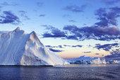 冰山,迪斯科湾,伊路利萨特冰湾,伊路利萨特,格陵兰
