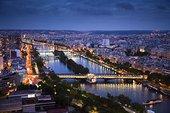 塞纳河,夜晚,巴黎,法国