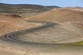汽车,弯路,冰岛