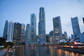 金融区,克拉码头,黄昏,新加坡