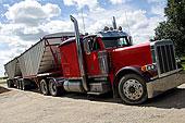 谷物,卡车,离开,农场,户外,萨斯喀彻温,加拿大