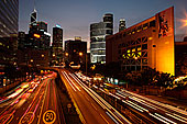高速公路,湾仔,黄昏,香港