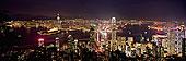 城市,顶峰,夜晚,香港