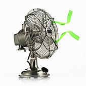 电扇,防护,笼子,移动,绿色,彩带,微风