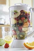 搅拌机,新鲜水果,特写