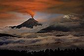 厄瓜多尔,火山,喷发