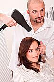 职业,男性,美发师,吹风机,沙龙,女性,顾客