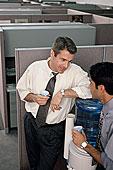 两个,商务,管理人员,交谈,水