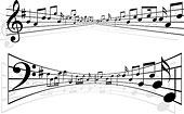 抽象,音乐,音符,造型