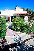 局部,花园,希腊,别墅,岛屿,克里特岛,假日