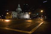 建筑,夜晚,圣路易斯,密苏里