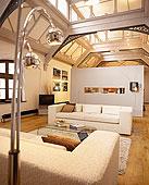 开放式格局,起居室,沙发,吊顶