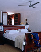 吊扇,高处,木质,雪撬,床