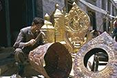 制作,庙宇,装饰,拉萨,西藏,中国,亚洲