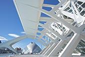 科学博物馆,半圆,背景,艺术和科学之城,瓦伦西亚,西班牙,欧洲
