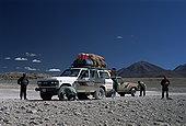 游客,吉普车,旅游,休息,乌尤尼,盐滩,玻利维亚,南美