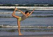 瑜珈,海滩