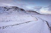 蓝色,山,冬天,靠近,南方,区域,中心,冰岛,极地