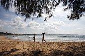 海滩,印度洋,莫桑比克,非洲
