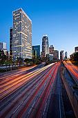 港口,高速公路,洛杉矶市区,天际线,加利福尼亚,美国,北美