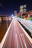 亮光,小路,夜晚,公路,布里斯班,昆士兰,澳大利亚,太平洋
