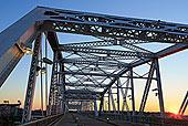 桥,上方,河,纳什维尔,田纳西,美国,北美