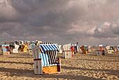 沙滩椅,海滩,埃德施泰茨,半岛,德国,欧洲