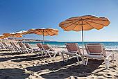 伞,海滩,哥斯达黎加,富埃特文图拉岛,加纳利群岛,西班牙,大西洋,欧洲