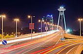 桥,飞碟,布拉迪斯拉瓦,斯洛伐克,欧洲