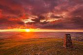 日出,希望,山谷,峰区国家公园,德贝郡,英格兰,英国,欧洲