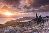 壮观,日出,俯视,斯凯岛,内赫布里底群岛,苏格兰,英国,欧洲
