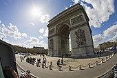 拱形,白天,户外,巴黎,欧盟