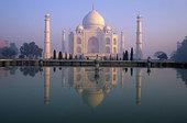 印度,泰姬陵,反射,水池