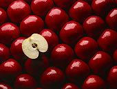 特写,红苹果,一个