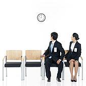 商务人士,坐,椅子