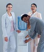 企业团队,喝,冷水机
