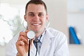 微笑,医生,听诊器